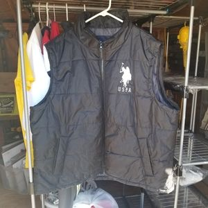 Mens Polo Puffer Vest Size 2XL